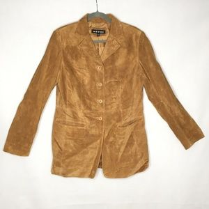 Revue Genuine Leather Long Tan Fall Button Down